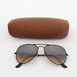 China 1pcs Top Fashion Vassl Brand Sunglasses Designer Sun Glasses For Men Women Gradient Black Metal Frame Brown Glass Lens 58mm with box suppliers