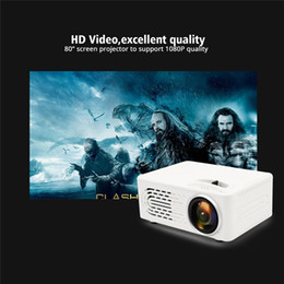 dlp 3d pocket projector Australia - Mini Home LED Portable Projectors Multimedia Video Projector Home 3D Theatre Cinema 1080P Pocket Mini Portable Support AV USB TF Card
