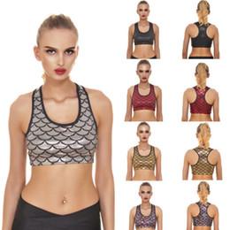 b1efb5c7b5b28 Discount new bra patterns - New Women Running Sports Bra Yoga Gym Workout  Fish-scale