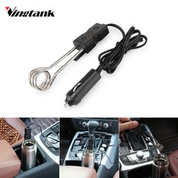 Discount portable car heat - Vingtank Portable 12V Car Drink Heater Winter Coffee Water Immersion Heater Auto Drink Heated