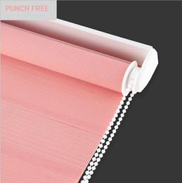 $enCountryForm.capitalKeyWord Australia - Punch Free Custom Cut to Size W 43.3 x H 59 Inch Horizontal Window Shade Blind Zebra Dual Roller Blinds Curtain