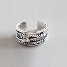 $enCountryForm.capitalKeyWord Canada - Korean version of genu208new ine silver jewelry S925 sterling silver ring multi-layer winding twist retro ring gold chain necklace jewelry