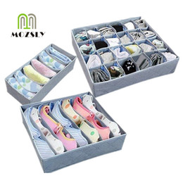 closet dividers for clothes UK - 24 7 6 Grid Foldable Divider Storage Box organizers Drawer Closet Organizer Boxes For Underwear Scarfs Socks Bra