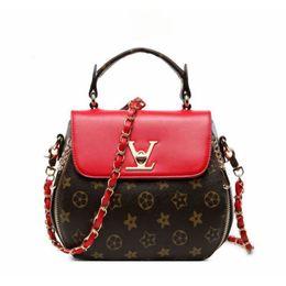 Discount small hasp lock - Women Geometry Printing Luxury Designer Handbags Small V Style Lock Clamshell Shoulder Bags Zipper Crossbody Bags