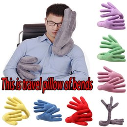 Neck cushioNs for cars online shopping - Multifunctional Travel Neck Pillow Of Bends Changeable Hand Shape Support Pillows For Car Airplane Train Noon Break Cushion md hh