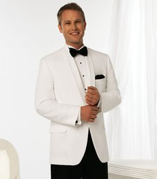 $enCountryForm.capitalKeyWord NZ - Men Suits White Shawl Lapel Simple Wedding Suits Evening Dresses Bridegroom Custom Made Slim Fit Tuxedos Best Man Blazer Prom Party 2Piece