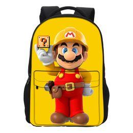 $enCountryForm.capitalKeyWord Canada - wholesale New Fashion School Bags Super Mario Printing Backpacks Girls Shoulder Bag Cool Cartoon Mochila Casual Men Daily Daypacks
