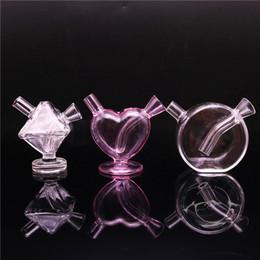 Perc hand PiPe online shopping - Glass bubbler blunt bong smoking bubbler hand pipe oil rig glass bong mini water bongs percolator smoking pipe perc pipe