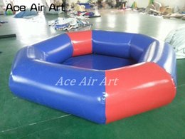 Swim pool family online shopping - PVC tarpaulin Family Inflatables round ground pool swimming pool rental indoor inflatable water pool with cover