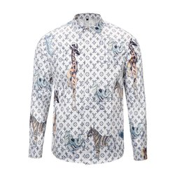 China Brand New Fashion design long sleeve men Casual shirts printed embroidery Mens social Slim Fit Shirts cheap mens patchwork plaid shirts suppliers
