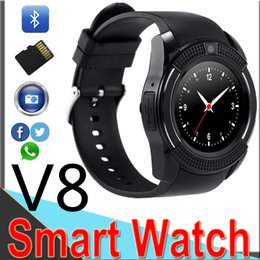 $enCountryForm.capitalKeyWord Australia - V8 Smart Watch With Sim TF Card Slots Bluetooth Smart Watches For Android Cellphones 0.3M Camera Smart Watch With Retail Package V86