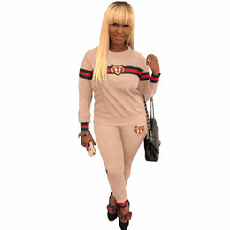 $enCountryForm.capitalKeyWord UK - New Women Tracksuit Tiger Head Print Sweatshirt + Pants Set Women Plus Size Jogging Sport Suit Soft Long Sleeve Tracksuit Sportswear S-3XL