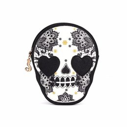 $enCountryForm.capitalKeyWord UK - 2018 Women Black Skull Shoulder Messenger Bag Handbag Purse Dropship 180223
