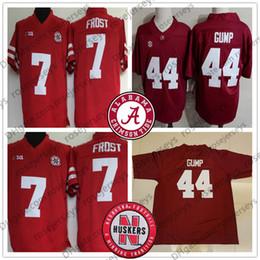 bb8cab5be87 University of Alabama Crimson Tide  44 Forrest Gump Red Stitched Nebraska  Cornhusker 7 Scott Frost College Football Tom Hanks Film Jerseys S
