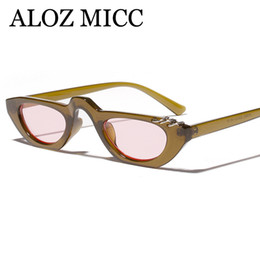 Chinese  ALOZ MICC Vintage Women Sunglasses Unique Round Iron Rings Eyewear 2018 Brand Designer Candy Sun Glasses Female Male A605 manufacturers