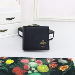 Best Brand leather purses online shopping - Fashion best quality brand designer men Wallet with box genuine leather small purses card holder