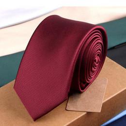 Fashion mens tie Korean dress trend new Korean casual plain color 6cm knit tie hot sale
