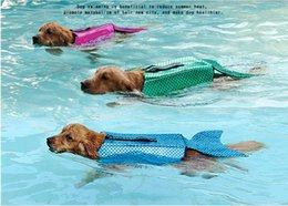 Pet Dog Life Jacket Safety Clothes Life Vest Collar Harness Saver Pet Dog Swimming Preserver Summer Swimwear Mermaid Shark Harmonious Colors Dog Clothing & Shoes