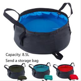 8.5L portable ultra-léger Packs pliant de stockage d'eau Lavabo Seau extérieur Randonnée Camping pêche lavage bassin de survie Outil LF006 en Solde