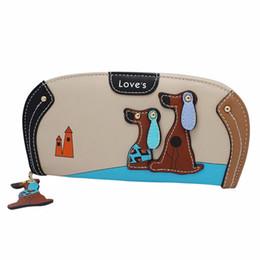 Dog Zipper Australia - NewHigh Quality Women Stitching Puppy Dog Zipper Coin Purse Long Wallet Card Holders Handbag carteira masculina Dec 06