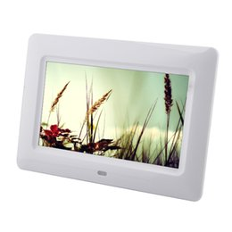 Video digital picture frame online shopping - new Inch Multifunctional HD Digital Photo Frame Electronic Picture Album with Mirror Panel Music Video Ebook Time Alarm