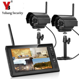 c55b2305f07 Yobang Security Wireless Security Camera System with 2.4GHz HD Digital  Wireless Cameras and 7