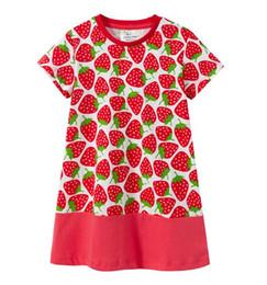 98ef9b29d Girls Dresses Strawberries UK - Children Princess Clothing New Girl Summer  Cartoon Cotton strawberry Dress Kids