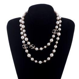 0ae40fd6bfdf COOL largo coreano largo suéter cadena Colar Maxi collar simulado perla  flores collar mujeres joyería de moda bijoux femme
