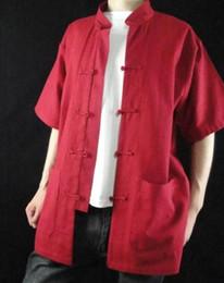 $enCountryForm.capitalKeyWord Canada - Fine Linen Red Kung Fu Martial Arts Tai Chi Shirt Clothing XS-XL or Tailor Custom Made