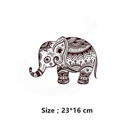 $enCountryForm.capitalKeyWord NZ - 2018 Zlolan Free Shipping Cartoon Elephant Patches 23*16cm Heat Press Appliqued A-level Washable T-shirt Transfer Paper patches for clothes