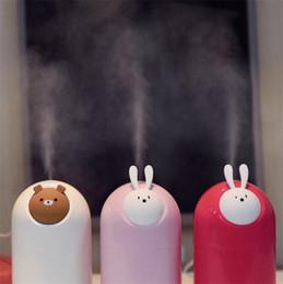 USB Cartoon Luftbefeuchter Ultraschall Bär Kaninchen Luftbefeuchter Nebel Maker Mini Tier Luftreiniger Desktop Dekoration 280 ml im Angebot