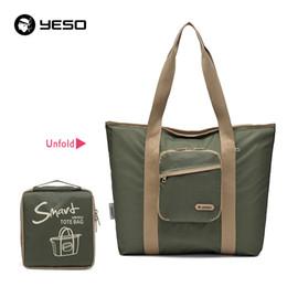 $enCountryForm.capitalKeyWord Canada - YESO Casual Women Tote Bags Multifunction Waterproof Nylon Foldable Top-Handle Bags Portable Lightweight Folding Bag For Ipad