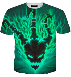 ingrosso league of legends magliette-T shirt Uomo Donna d Stampa Cartoon Magliette Estate Supera it Moda d camicie LOL Hip Hop Lega Leggenda D stampato magliette