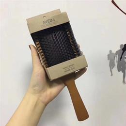 A qualidade superior AVEDA Paddle escova Brosse Club massagem Hairbrush pente evitar Trichomadesis cabelo SAC Massager venda por atacado