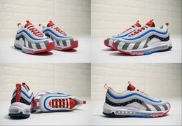 63786be9ad 2019 Hot Designer Piet Parra x 97 Bullet Multicolor Amsterdam Rainbow park  97s Running Shoes Mens Trainers Fashion Sneakers Size 36-46