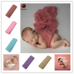 baby hammocks wholesale Canada - Baby Newborn Photography Props Baby Costume Outfit Cotton Photos Wrap Girls Photo Props Wrap Fotografia Kids Hammock