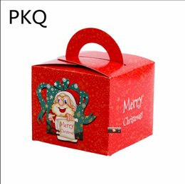 $enCountryForm.capitalKeyWord Australia - 10 PCS Set Merry Christmas Candy Box Bag Christmas Tree Gift Box With Handle Paper Box Gift Bag Packaging Supplies
