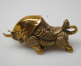 $enCountryForm.capitalKeyWord Canada - Obras de colección de arte de latón chino tallado Bull escultura feng shui dinero Ox estatua