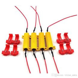 1157 led load resistor online shopping - 4Pcs pair W ohm Load Resistors Fix LED Bulb Fast Hyper Flash Turn Signal Blink Error Code