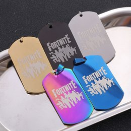 Special holiday giftS online shopping - Game Fortnite Charm Pendant Necklace Stainless Steel Keel Metal Crafts Colorful Necklace Fortnite Battle Royale Fans Souvenir Xmas Gifts hot