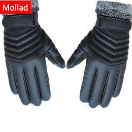 $enCountryForm.capitalKeyWord Australia - Mollad NEW Leather winter guantes sheepskin Gloves men Leather gloves Touchable screen simple prevent cold Gloves for men