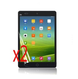 Discount tablet screen guard - 2x Clear films + 2x clothing , New LCD Tranparent Screen Protector Protective Film Guards For Xiaomi Mipad Mi Pad 7.9