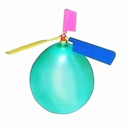 Children toy balloon heliCopter online shopping - Children Flying Balloon Helicopter DIY Balloons Airplane Toy Gift For Kids Easy To Assemble High Quality gf WW