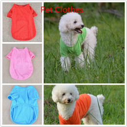 $enCountryForm.capitalKeyWord Canada - Spring Pet Clothes Puppy T-shirt Solid Color Dogs T-shirt Fashion Classic Cotton Clothes 6 colors Cat Summer Pet Wear 2018 Hot Sale