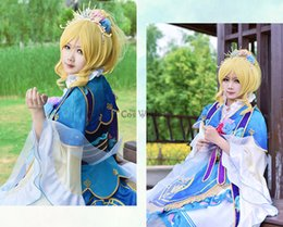 86c69573887b Accessories Cosplay Costumes Love Live School Idol Project Ayase Eli Seven  Lucky Gods Dress Uniform Outfit Anime Cosplay Costumes