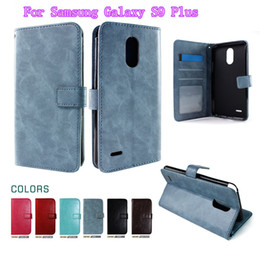 cards slots NZ - Wallet PU Leather Case Cover Pouch with Card Slot Photo Frame For Huawei P10 selfie For Samsung Galaxy S9 PLUS Galaxy B