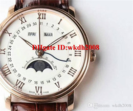 Luxury Display Cases NZ - AAA Luxury Villeret watch Swiss 6654 Automatic Movement Moonphase Date and day display Sapphire Crystal transparent case back men watch
