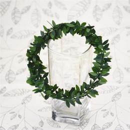 $enCountryForm.capitalKeyWord Australia - 30M pcs Artificial Silk Garland Fake Green Leaf Iron Wire Artificial Flower Vine Rattan for Wedding Car Decoration Christmas DIY Wreath