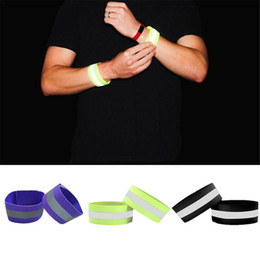 $enCountryForm.capitalKeyWord NZ - Elastic Running Fishing Cycling Reflective Wristband Strips Warning Bike Safety Bicycle Bind Pants Leg Strap Reflective Tape