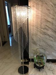 Fashion Floor light lamp online shopping - led Fashion modern crystal Floor lamp living room lights bedroom lamps crystal French Modern stand Lights Crystal Abajur cristal